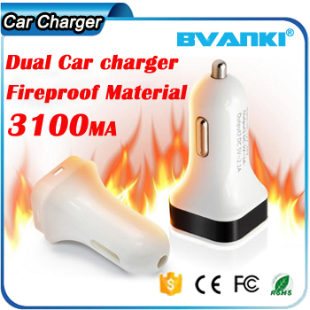 Wide Compatibility Fast Charging Compact Design 2 USB Port 2.1A Fast Car Charger For Mobile Phone Or Charging Device