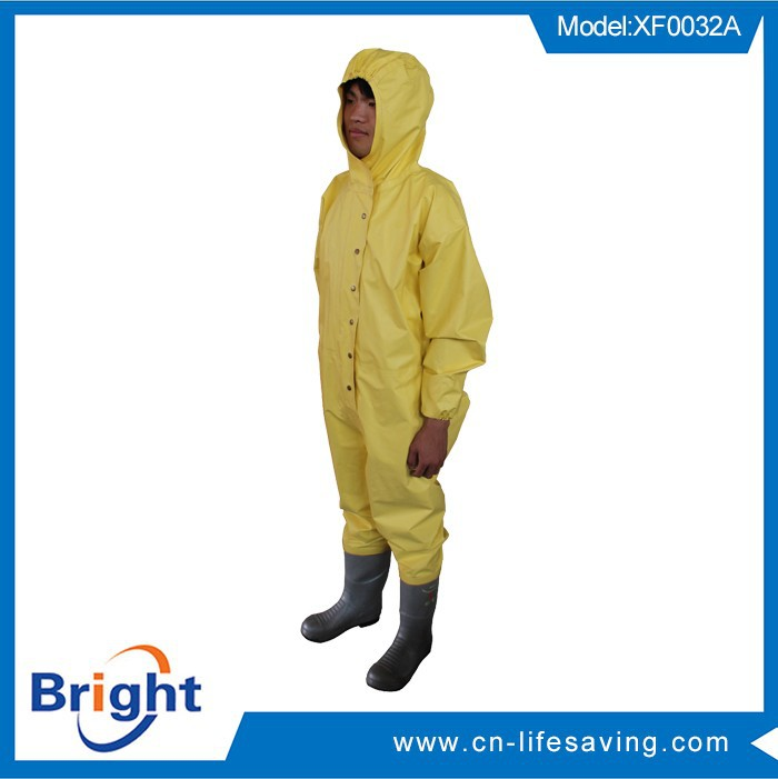 Hot selling rubber chemical suit made in China