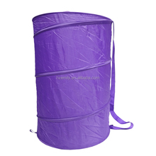 Pop-Up Laundry Hamper Basket on Wheels with Drawstring Closure