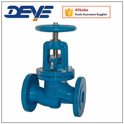 DIN 3202 F1 Gray Cast Iron Flanged Globe Valve
