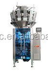Multihead modular dried fruit/nuts/peanut/cashew weighing and packing 2 in 1 machine