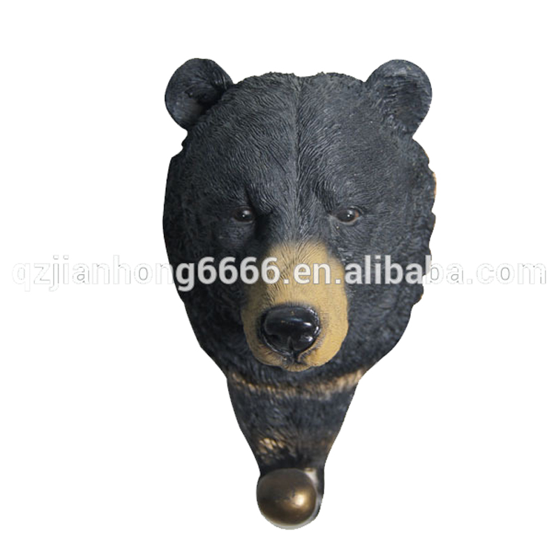 Resin Wall Hanging 3D Artificial Bear Ornaments Animal Head