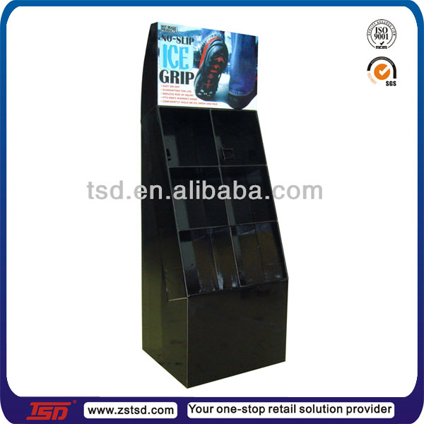 Slipper Stand Designs : Custom wholesale floor metal shoe shop display slipper