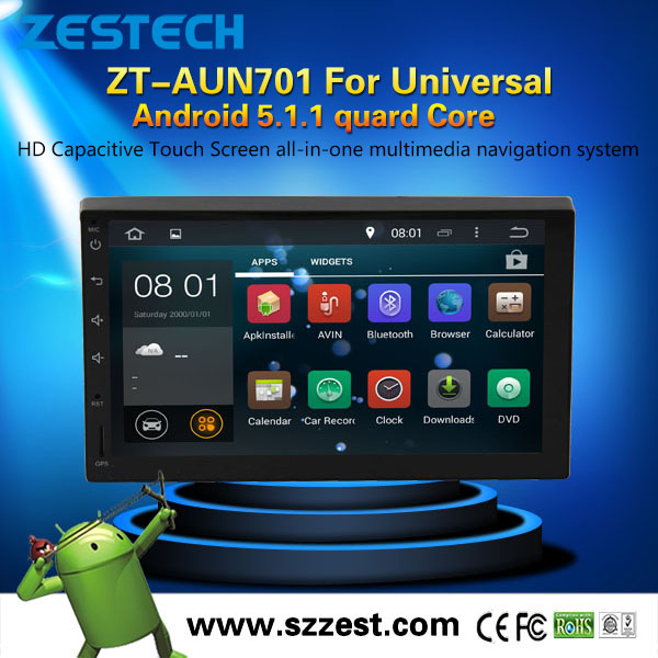 Full touch screen android car navigator multimedia system 2din universal android car dvd player with 1.6GHz CPU Radio GPS
