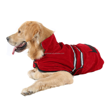 Reflective Stripe Safety Dog Fleece Winter Clothes Pet Coat for Large Dog