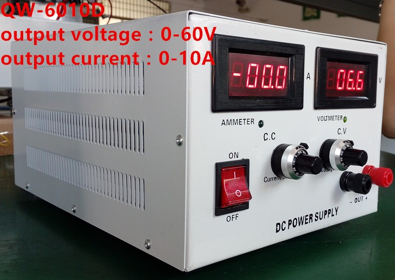 QW-6010D DC switching regulated power supply 0-60v 0-10A or customizing with CE approved