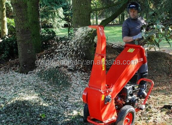 Tree stump crushing machine, Professional 15HP wood chippers