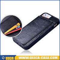 2015 newest design leather back cover for iphone 4 4s case with back holder