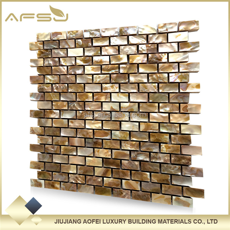 Mini-brick mother of pearl shell mosaic tile backsplash suppliers