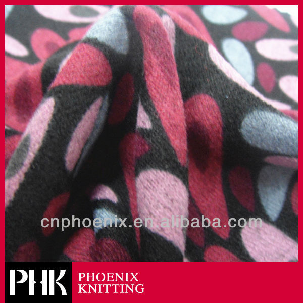POLYESTER PRINTING BRUSHED FABRIC FOR BEDDING SET