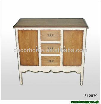 Wood Shabby Chic Storage Cabinet