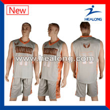 free sample customize sublimation basketball uniform design for men