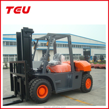 8 Ton Diesel Forklift with Isuzu Engine with 3M mast and pneumatic tires