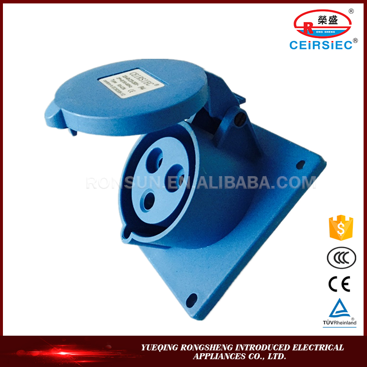 RS Low Price Professional industrial IP44 2P+E power socket