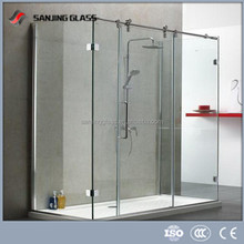 Glass partition for bathroom laminated glass