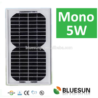 Bluesun good price mono 5W solar panel with CE TUV UL certificate