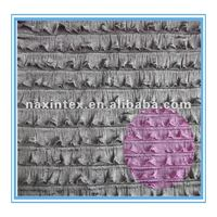 2cm polyester tiedyed ruffle fabric(for fashion dress)