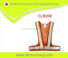 custome 16 flashing red led reflective safety vest CLB208