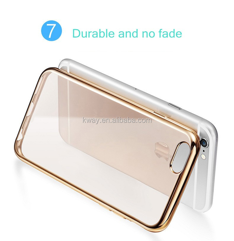 Coque For samsung galaxy S8 S8 plus Case Clear Transparent Gold Plating Soft TPU Back Cover