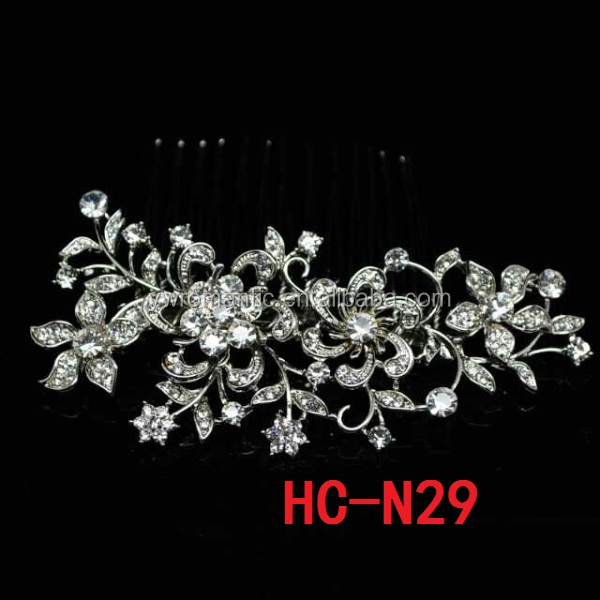 Fashion flower crystal indian wedding hair accessories