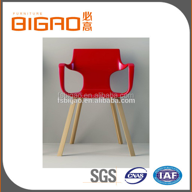 Europe Modern Wholesale Dining Chairs with Wood Stains Wood Feet SGS tested