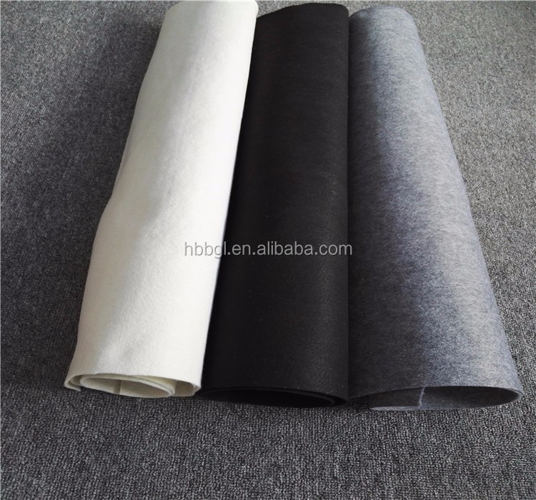 Wholesale the black and white non woven Fabric Polyester felt