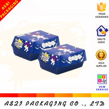 slice biodegradable food paper cardboard hamburger box for lunch packaging