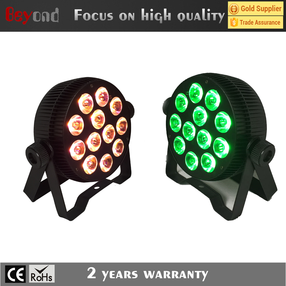party lights/ 12*5in1 rgbwa led slim disco light /led can light for ir remote control mini