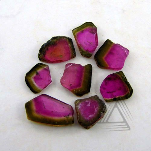 Slice Shape Watermelon Tourmaline Gemstone Natural Wholesale Semi Precious Loose sliced Gemstones