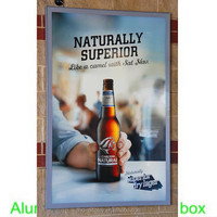 LED beer advertisement light box Wall Mounted Advertising Slim Aluminum Frame A1 LED Light Box Display