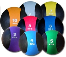 Crossfit Rubber Material Two Color Bouncing Medicine Ball