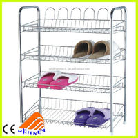 Free sliding Stainless steel shoe shelves,DIY chormed shoe shelving rack,shoe rack