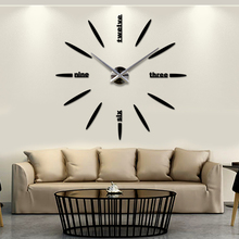 Promotional 3D dial EVA sticker large decorative mirror wall clock