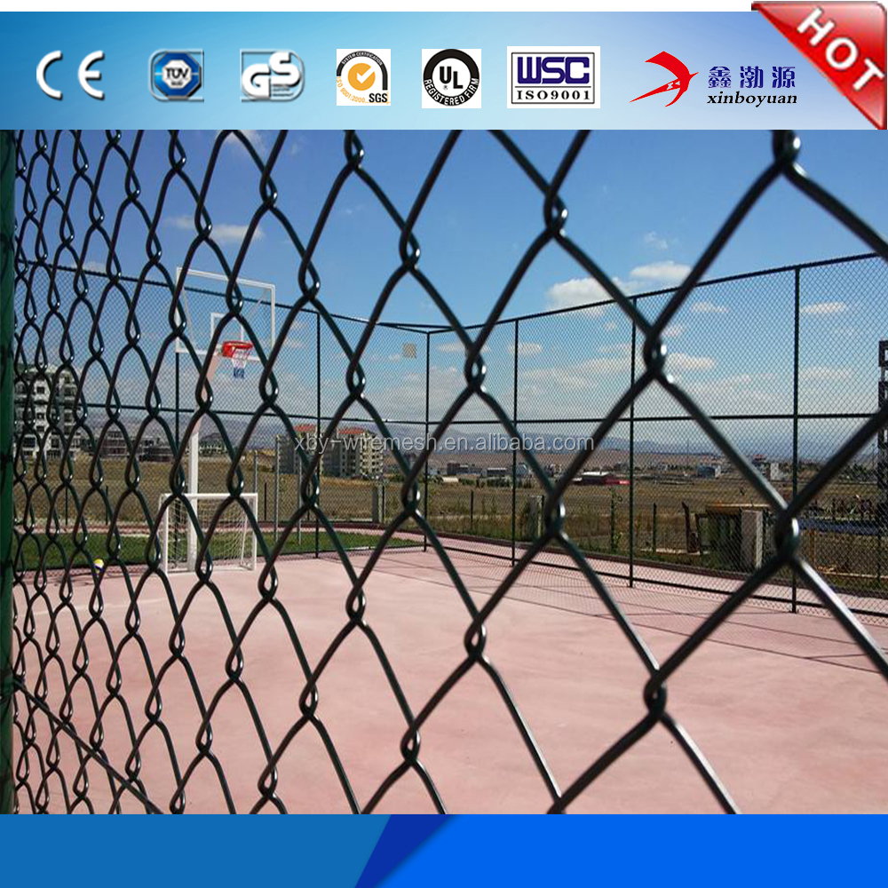 8 gauge chain link fence/stainless steel chain link fence/galvanised chain link fence
