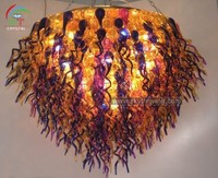 hand multicolor blown glass chandelier