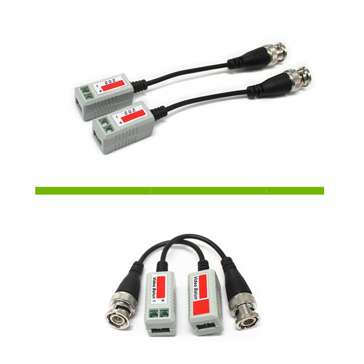 CCTV camera 1 channel bnc coaxial twisted-pair coaxial video balun