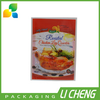 Custom printed food grade roast chicken packaging bag