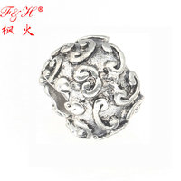 2016 New products trendy hollow zinc alloy beads with low price fit Wholesalers