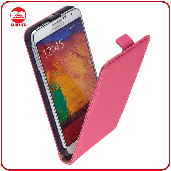RF Factory Wholesale Deluxe Slim Fit Vertical Magnetic Premium Leather Flip Case Cover for Samsung Galaxy Note3 Neo