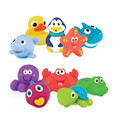 Rubber animal fun bath toys