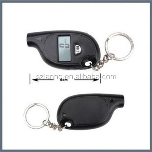 Mini Black Keychain LCD Digital Tire Tyre Air Pressure Gauge For Auto Car Truck