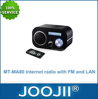 Digital Wifi Internet Radio With FM And LAN, Wifi Radio Support MP3, WMA, AAC, FLAC Format Playback