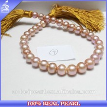 Wholesale Multi Color AAA 12-15mm Purple Natural Fresh Water Pearl Strand