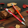 Logo printed promotional ballpoint metal ball pen,red metal pen