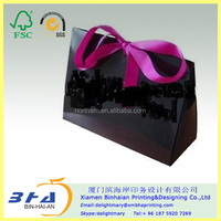glossy black paper shopping bags