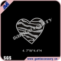 Wholesale New Style Crystal Zebra Heart hot fix rhinestone motif for clothes