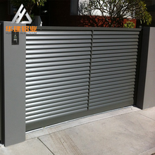Competitive Price Black White Aluminum Automatic Electric Driveway Entrance Fence Gates for Sale