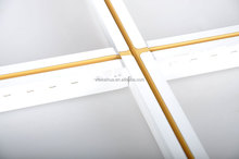 t bar ceiling metal grid panels with yellow line