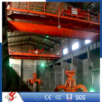 China Crane Supplier 10Ton Overhead Cranes With Grab,Span is From 10.5m to 31.5m