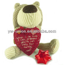 Romantic plush red hear teddy bear plush promotional gifts